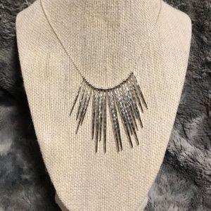 Stella & Dot silver rebel cluster necklace